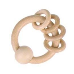 Hochet naturel avec anneaux Heimess