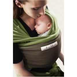 Echarpe pistache poche cafe noir JPMBB je porte mon bébé