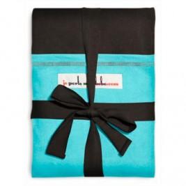 JPMBB écharpe Café Noir poche turquoise