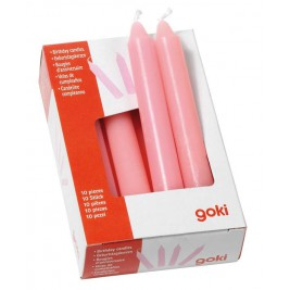 set of 10 candles pink birthday Goki