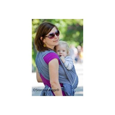 Echarpe Storchenwiege noir blanc avec bébé