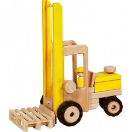 Chariot élévateur jaune par Goki