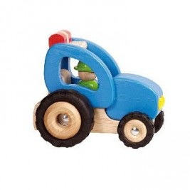 Tractor blue wood by Goki