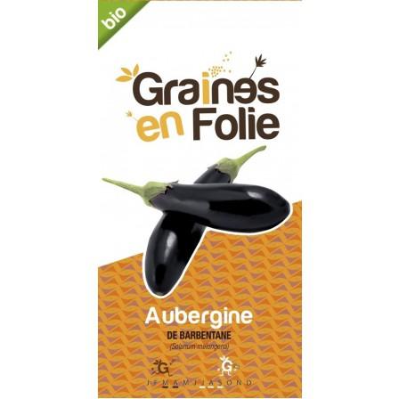 Aubergine de Barbentane Bio graines en folie
