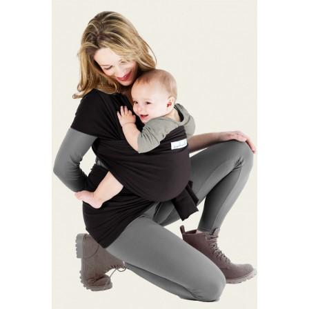 Je porte mon bebe en Basic Presque Noire