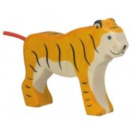Tigre debout en bois Holztiger