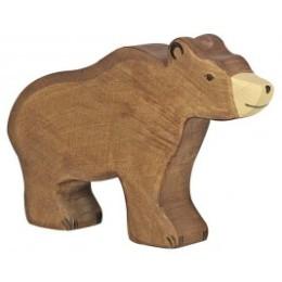 Ours brun en bois Holztiger