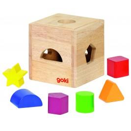 Petite boîte à formes en bois Goki