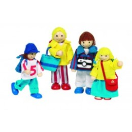 Family vacation, articulated puppets goki wood