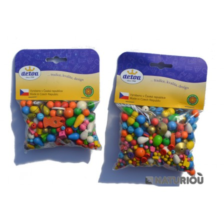 70 grams and 100gr of colorful Beads wooden