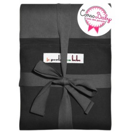 The original JPMBB Baby Wrap Charcoal Black, pocket Black
