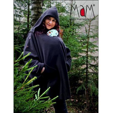 Poncho de portage Aiska Mam – Black  S/M