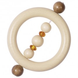 Rattle ring amber