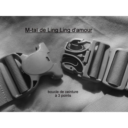 M-Tai Daïcaling loop three-point belt