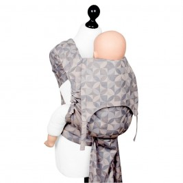 Fidella Fly Tai - Mei Tai baby carrier Kaleidoscope - sand Toddler size