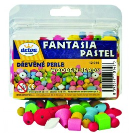 Fancy beads pastel wood