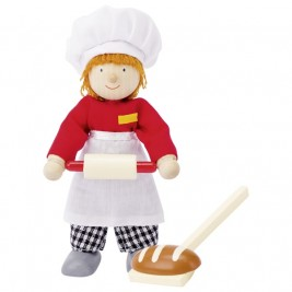 Doll flexible wood Goki - Baker