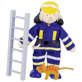 Doll flexible Goki - Firefighter savior cat