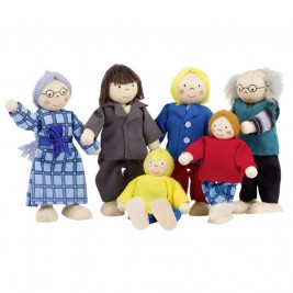 Famille de la ville, poupées articulées Goki