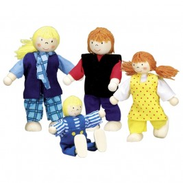 Modern family, articulated puppets Goki