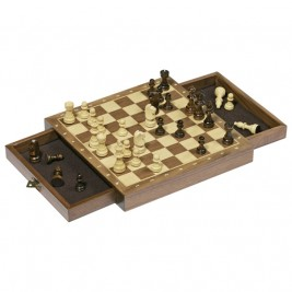 Chess magnetic with drawer Goki