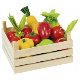 Crates of fruits and vegetables wooden Goki