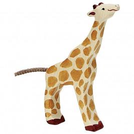Petite Girafe mageant Holztiger