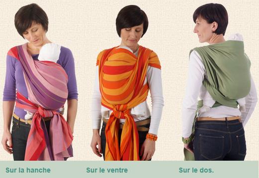 Trois manières de porter votre écharpe Storchenwiege