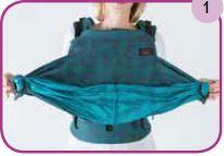 Etape 1 installation portage ventral Easy Emeibaby Babysize