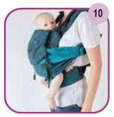 Etape 10 - Installation portage ventral Easy Emeibaby Babysize