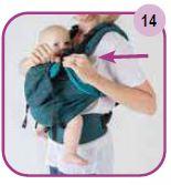Attache du surplus d'écharpe Easy Emeibaby Babysize