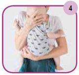 Etape 4 - Installation portage ventral Easy Emeibaby Babysize