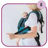 Etape 8 - Installation portage ventral Easy Emeibaby Babysize