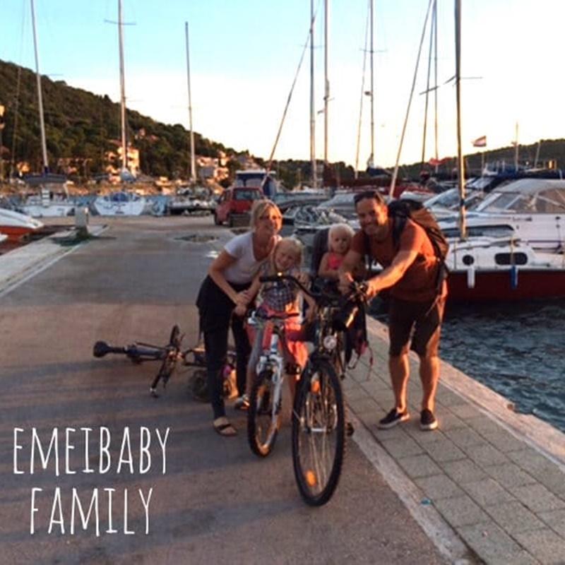 Daniela, fondatrice de Emeibaby et sa famille