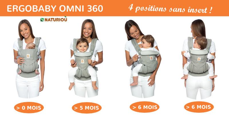 Ergobaby Omni 360 4 positions