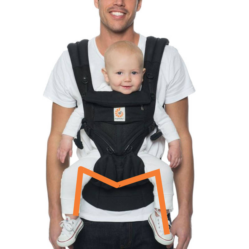 Ergobaby cool air mesh Onyx physiologique