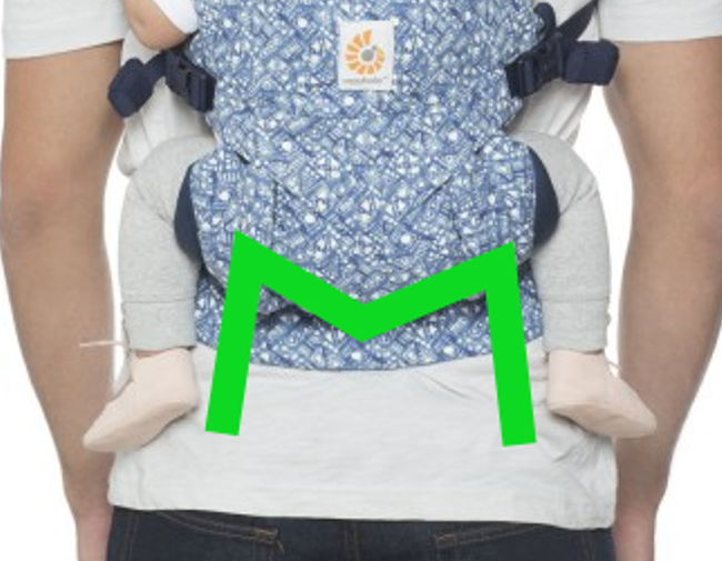 position physiologique dans l'Omni indigo Batik