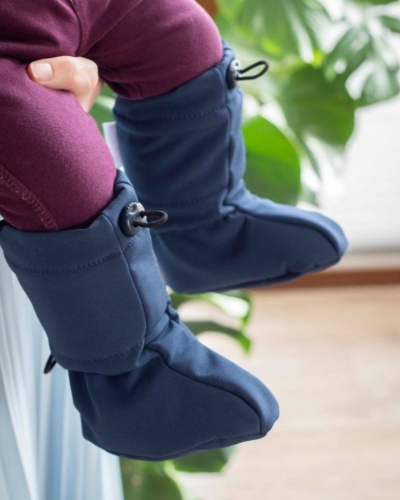 image chaussons navy