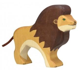 figurine en bois Holztiger