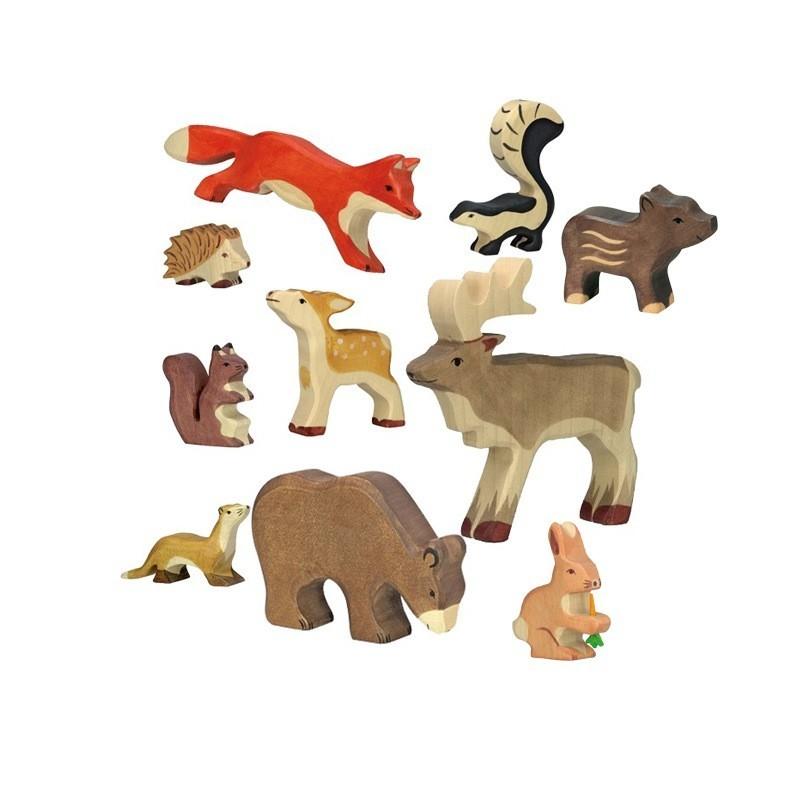 Holztiger figurines en bois