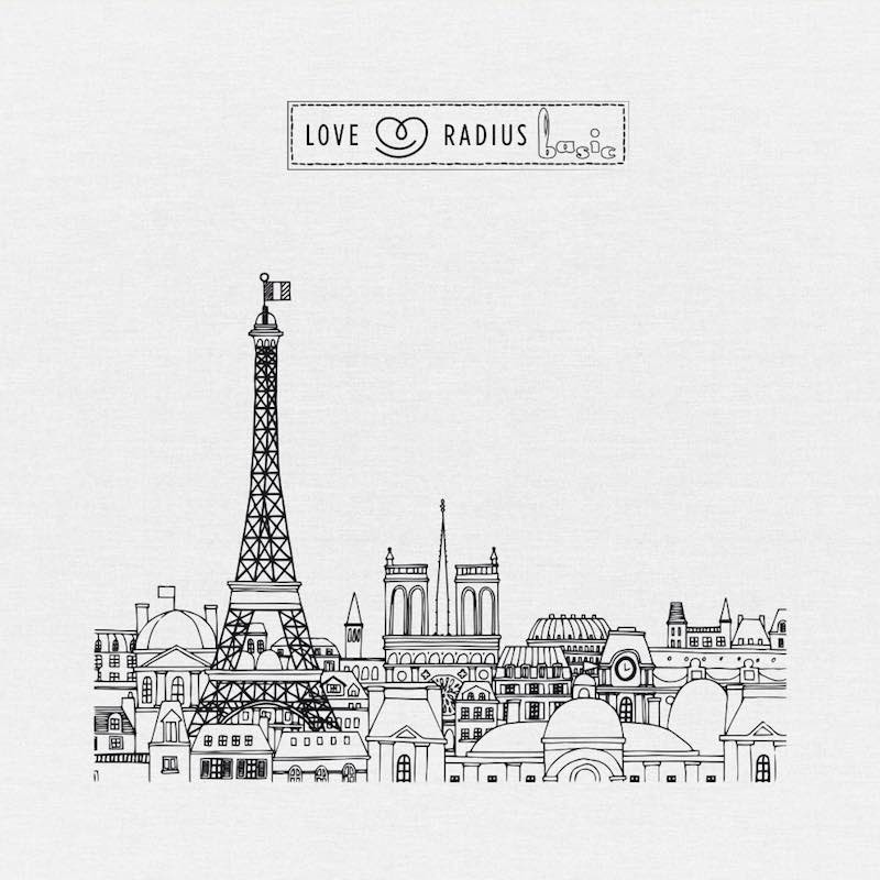 Echarpe BASIC TATTOO Paris Panorama motif
