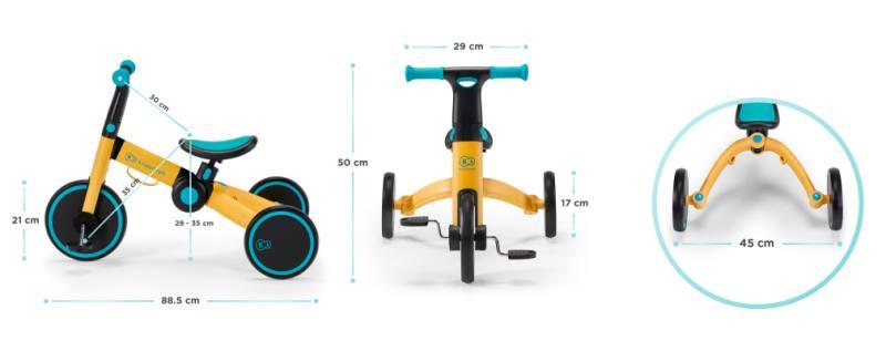 Dimensions du Tricycle Kinderkraft 4Trike