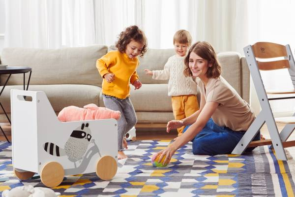 Kinderkraft Caisse à Jouets RACOON - Coffre à roulettes