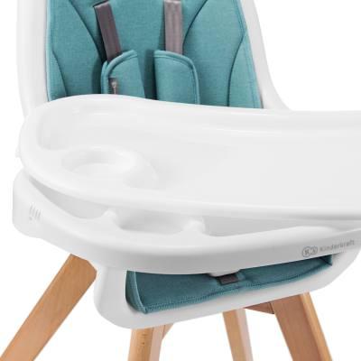 Kinderkraft TIXI Chaise Haute Bébé et Chaise Enfant 2 en 1 Double plateau réglable