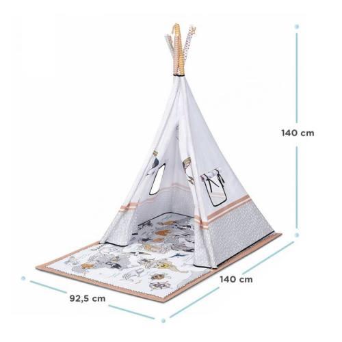 Kinderkraft Tippy tapis éducatif avec tente tipi 3 en 1 Dimensions