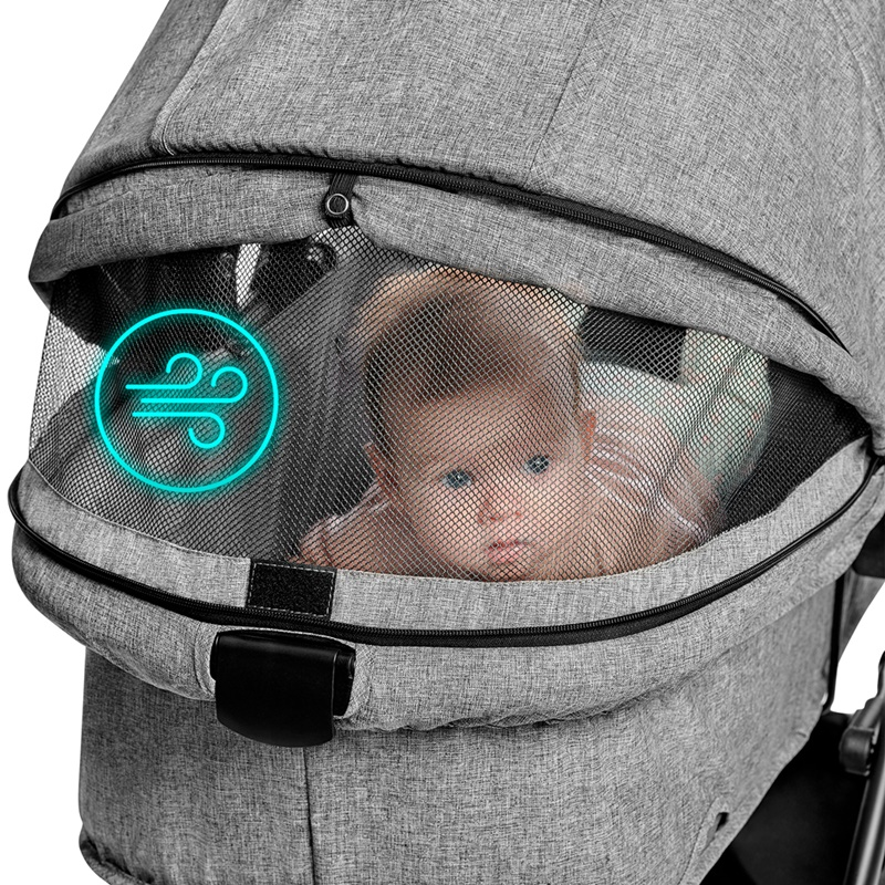 Poussette 3 en 1 Xmoov Kinderkraft partie ventilée en tissu mesh