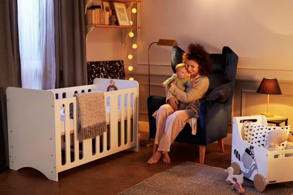 Kindekraft Stello lit bébé en bois