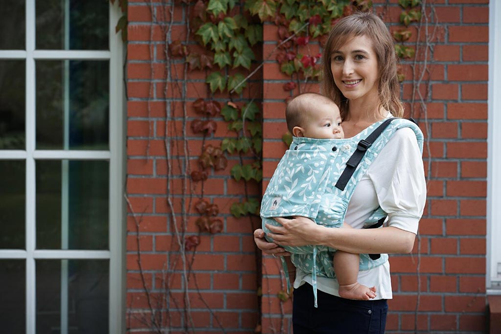 Limas Flex Flora Magic Mint, porte bébé physiologique