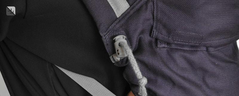 Cordon de serrage porte-bébé nouveau-né Gris anthracite