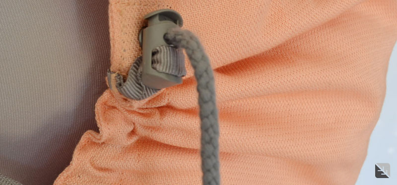 Cordon de serrage du LLA Preschool abricot